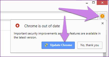 Atualizar o Google Chrome 19A