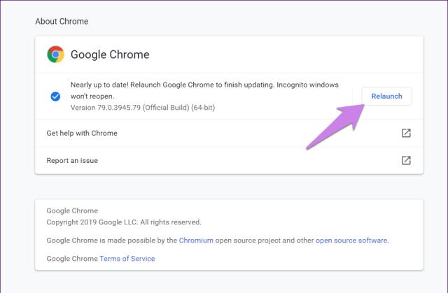 Atualizar o Google Chrome 11