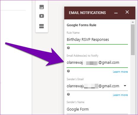 Obter respostas dos formulários do Google por email 11