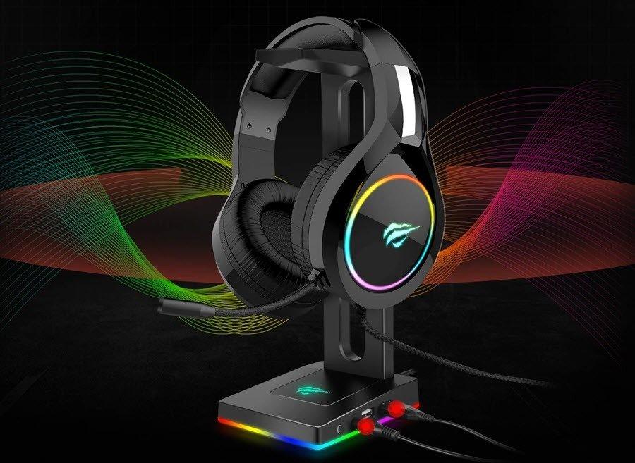 Suporte para fones de ouvido Havit RGB