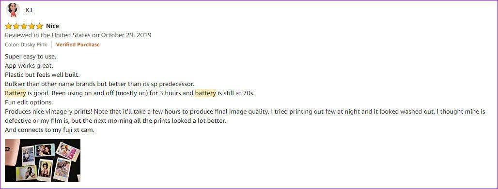 Bateria Fujifilm Instax Mini Link