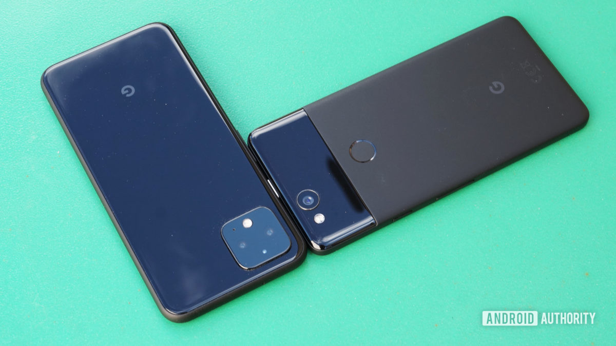 Design do Google Pixel 2 vs Pixel 4