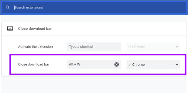 Desativar Chrome Prateleira de download 3