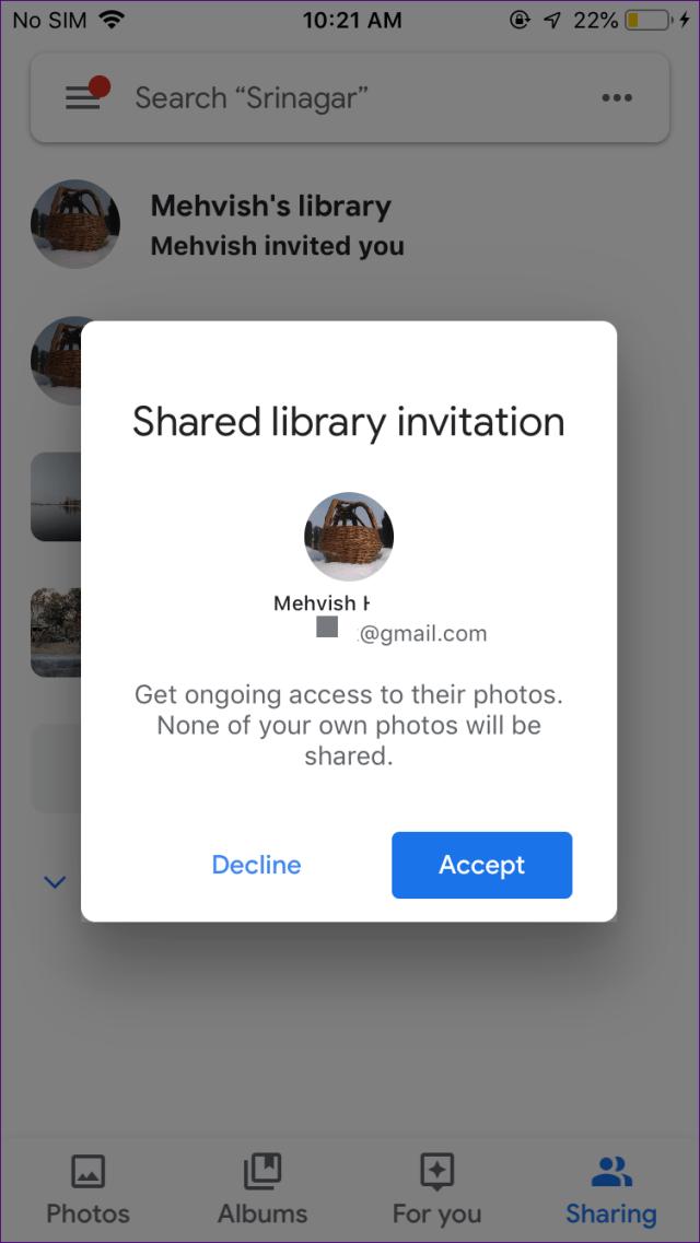 O que são bibliotecas compartilhadas de contas de parceiros no google photos 4