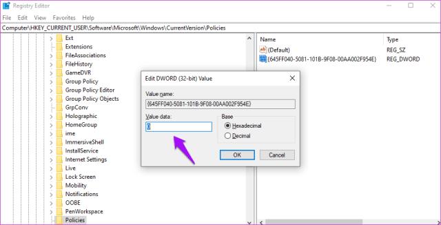 Corrigir a lixeira está acinzentada no Windows 10 13