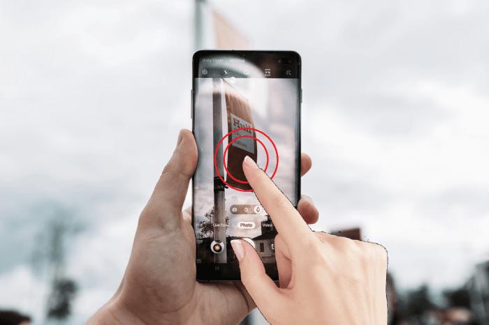 Edição acidental do toque de Samsung Galaxy S10