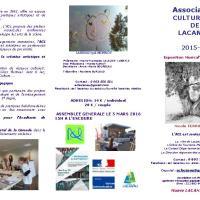 Programmes 2016 de l'ACL