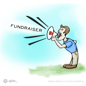 promoting a fundraiser to potential donors