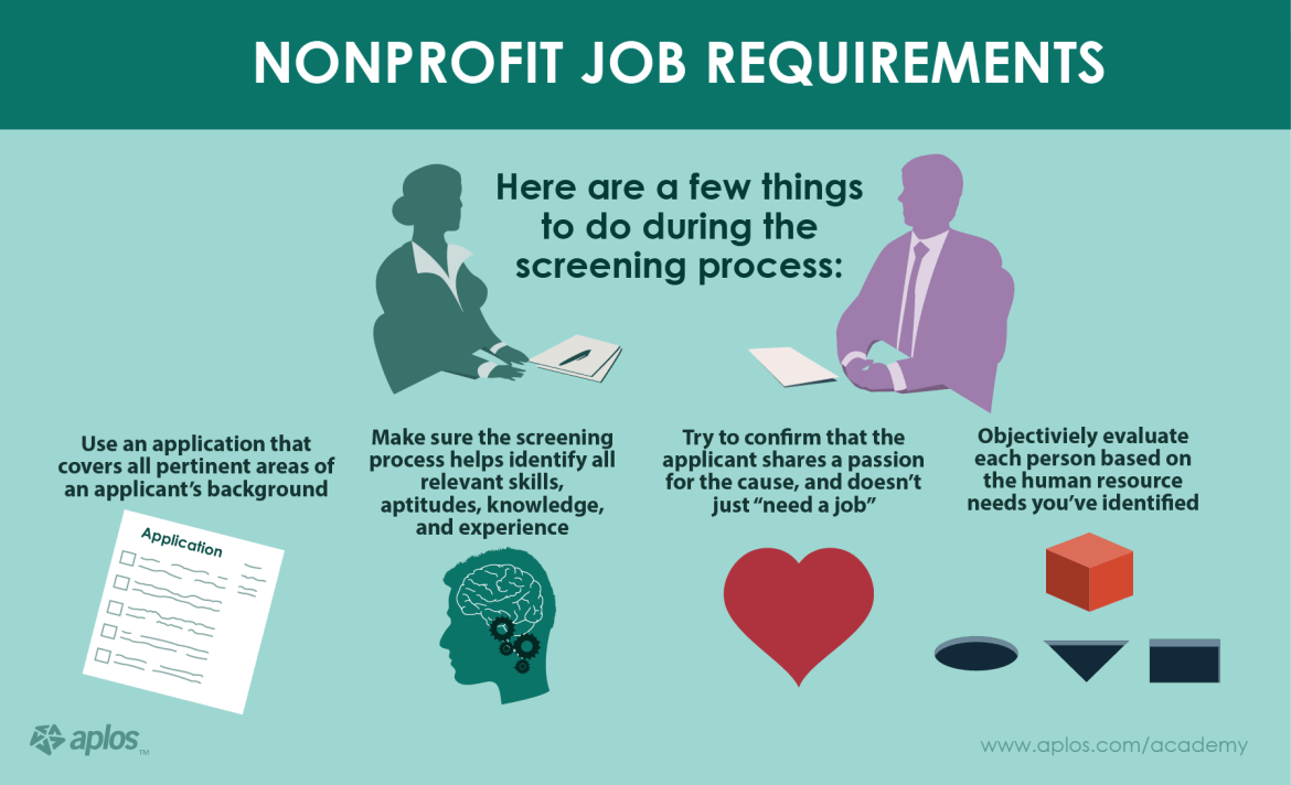 Human Resource Section - Nonprofit Job Requirements