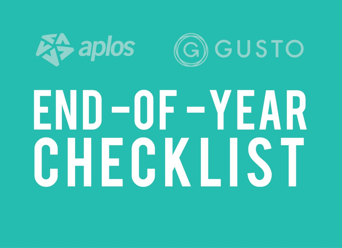Gusto End-Of-Year Checklist