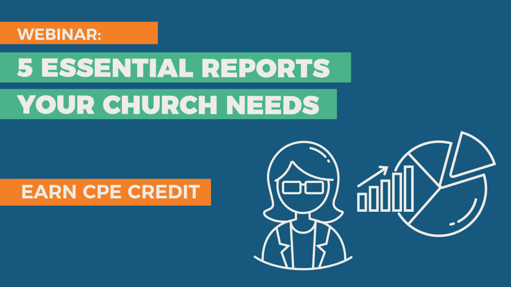 Church annual report and financial report webinar