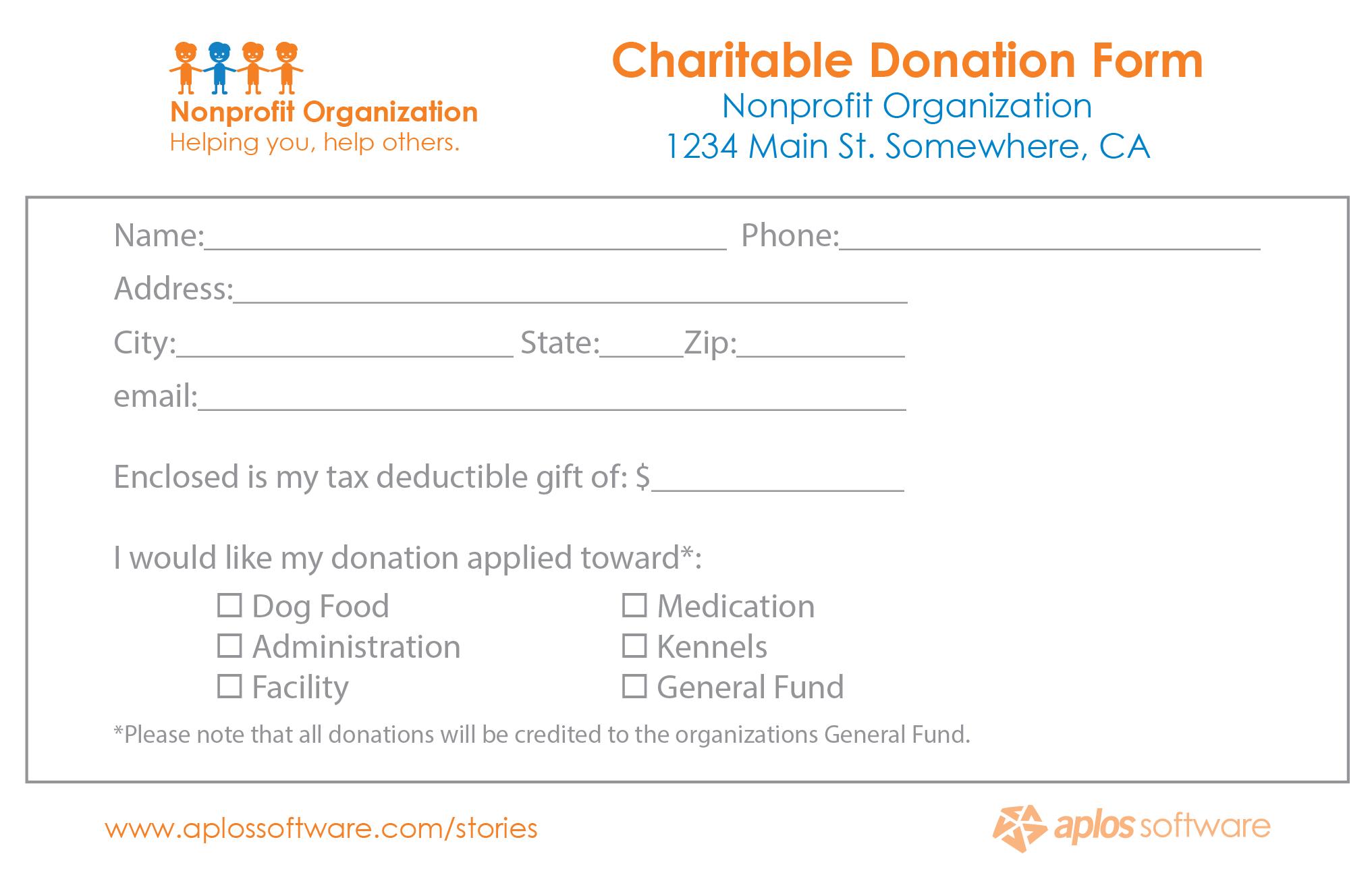 Pledge Form Template donation pledge form template donation – Donation Form Templates