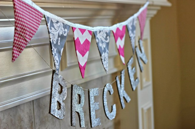 Bunting and baby name tutorial