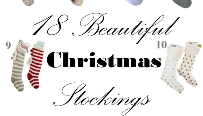 18 Beautiful Christmas Stockings