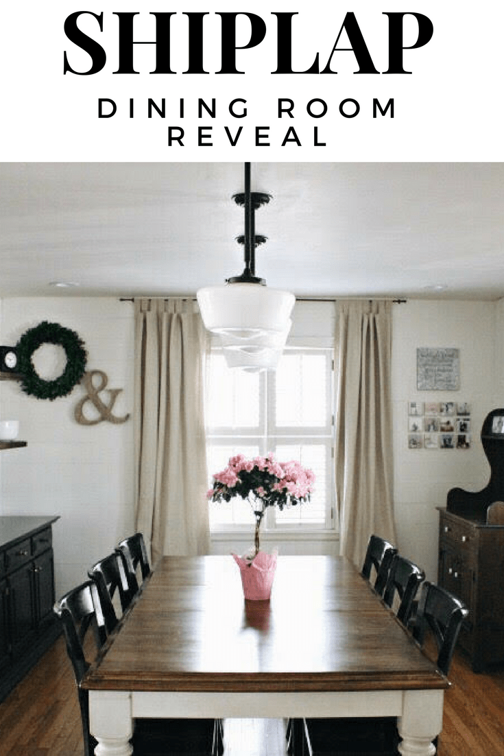 Shiplap Dining Room Reveal Wall Ideas White
