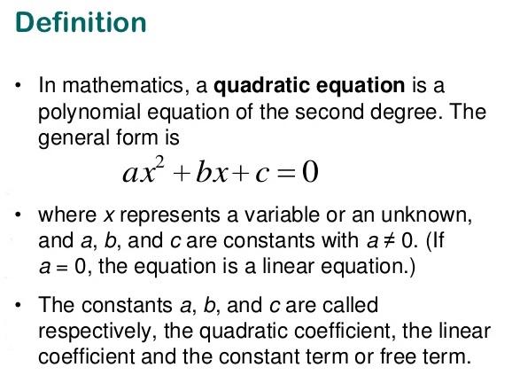 ICSE Solutions for Class 10 Mathematics - Quadratic Equation - A