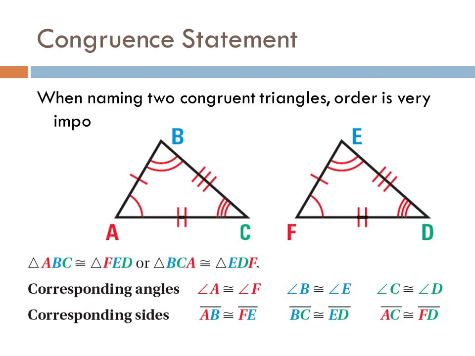 Congruence Of Triangles Class 7