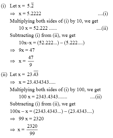 Conversion Of Decimal Numbers Into Rational Numbers Example 3 A