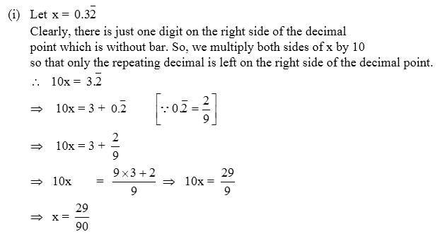 Conversion Of Decimal Numbers Into Rational Numbers Example 4 A