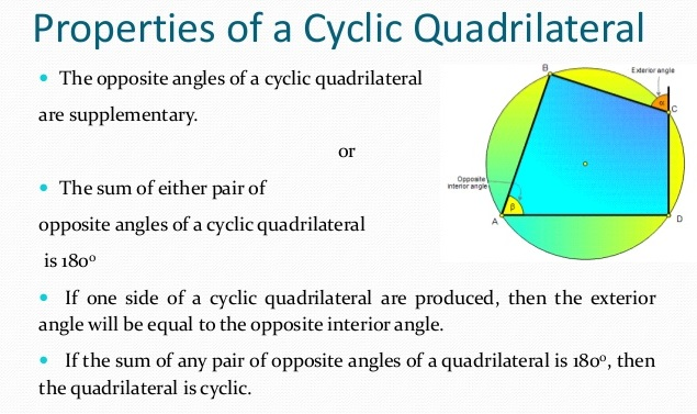 What Are The Properties Of Cyclic Quadrilaterals A Plus Topper