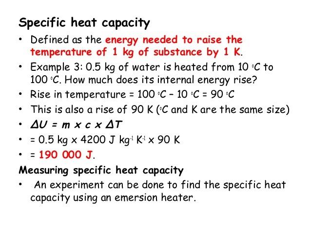 specific latent heat formula