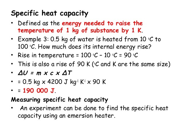Icse Solutions For Class 10 Physics Specific Heat