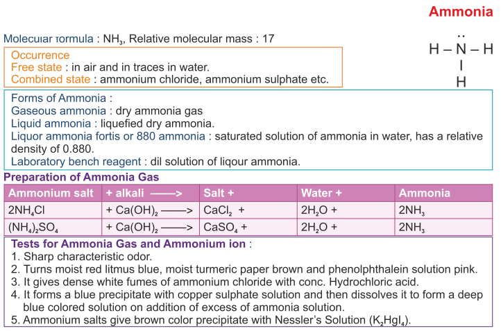 icse question on ammonia