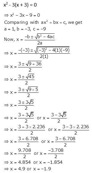 Selina Concise Mathematics Class 10 ICSE Solutions Quadratic Equations ex 5d q11
