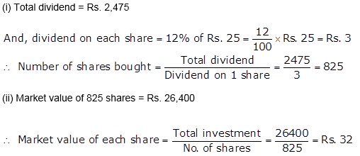 Selina Concise Mathematics Class 10 ICSE Solutions Shares and Dividends q9