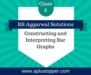 RS Aggarwal Class 8 Solutions Ch 22 Constructing and Interpreting Bar Graphs