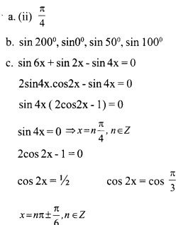 HSSlive Plus One Maths Chapter Wise Questions and Answers Chapter 3 Trigonometric Functions 29