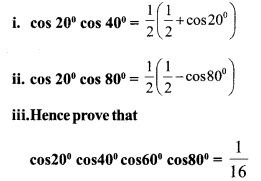 HSSlive Plus One Maths Chapter Wise Questions and Answers Chapter 3 Trigonometric Functions 54