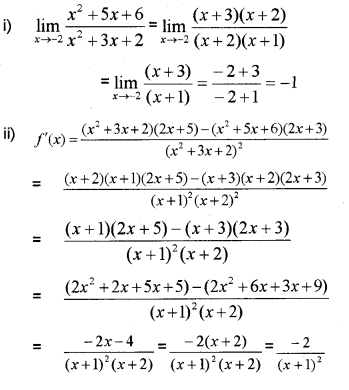 Plus One Maths Chapter Wise Previous Questions Chapter 13 Limits and Derivatives 34
