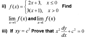 Plus One Maths Chapter Wise Previous Questions Chapter 13 Limits and Derivatives 50