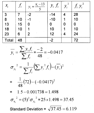 Plus One Maths Chapter Wise Previous Questions Chapter 15 Statistics 13