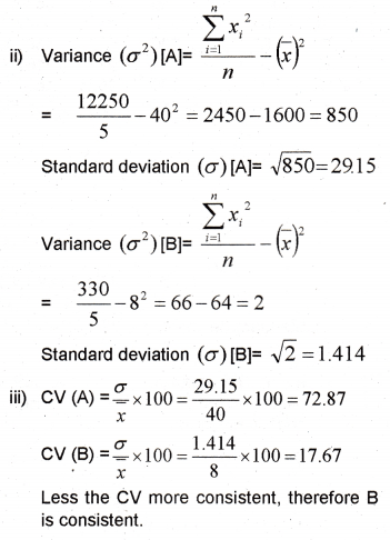 Plus One Maths Chapter Wise Previous Questions Chapter 15 Statistics 27