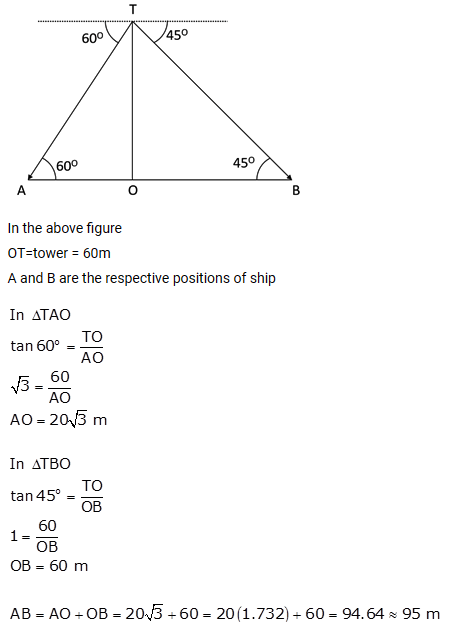 Selina Concise Mathematics Class 10 ICSE Solutions Heights and Distances ex 22c q21