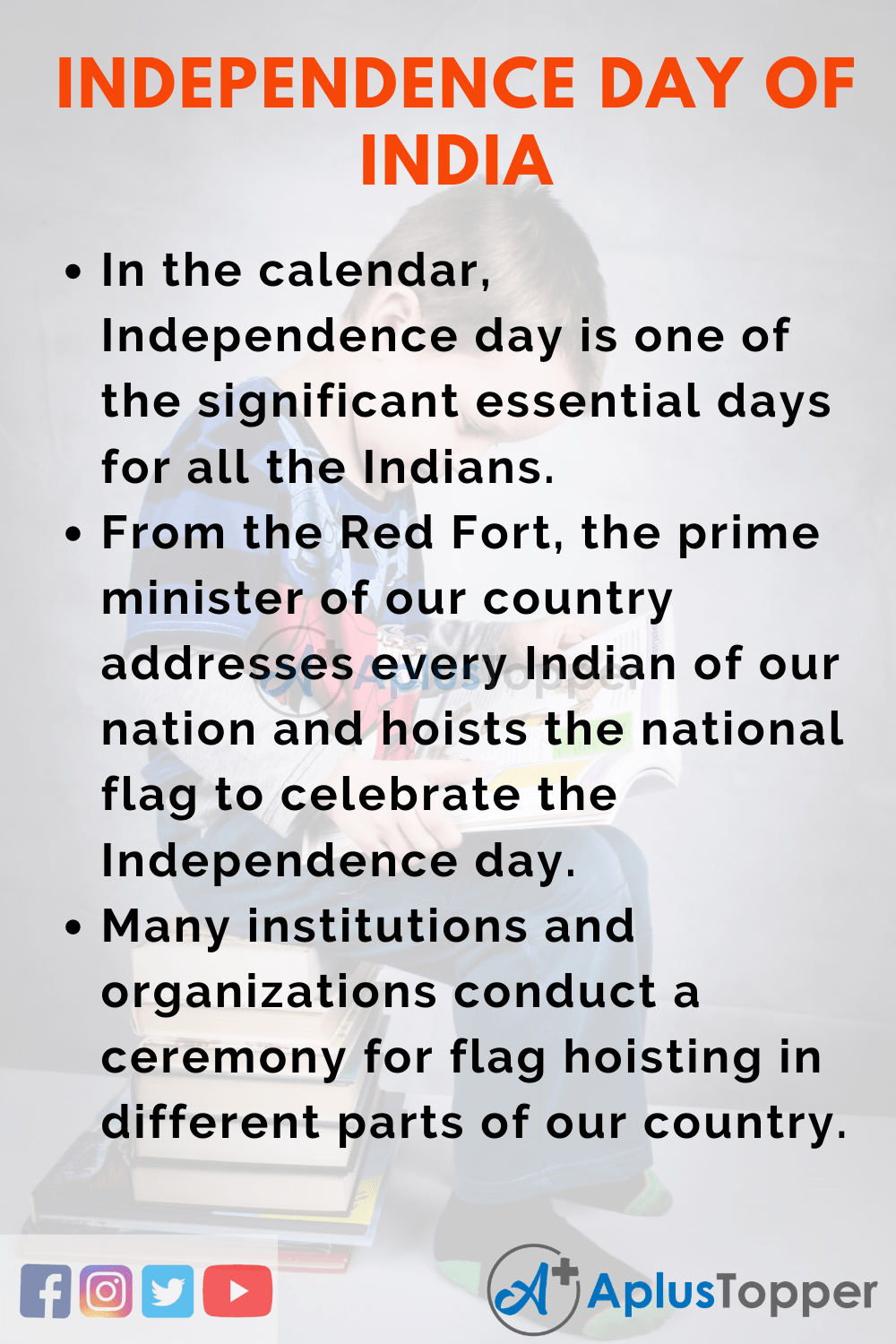 10 Lines On Independence Day Of India for Higher Class Students