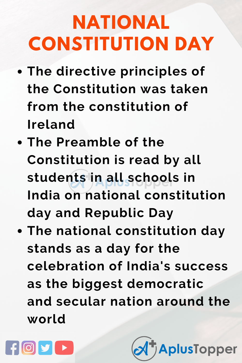 Essay About National Constitution Day