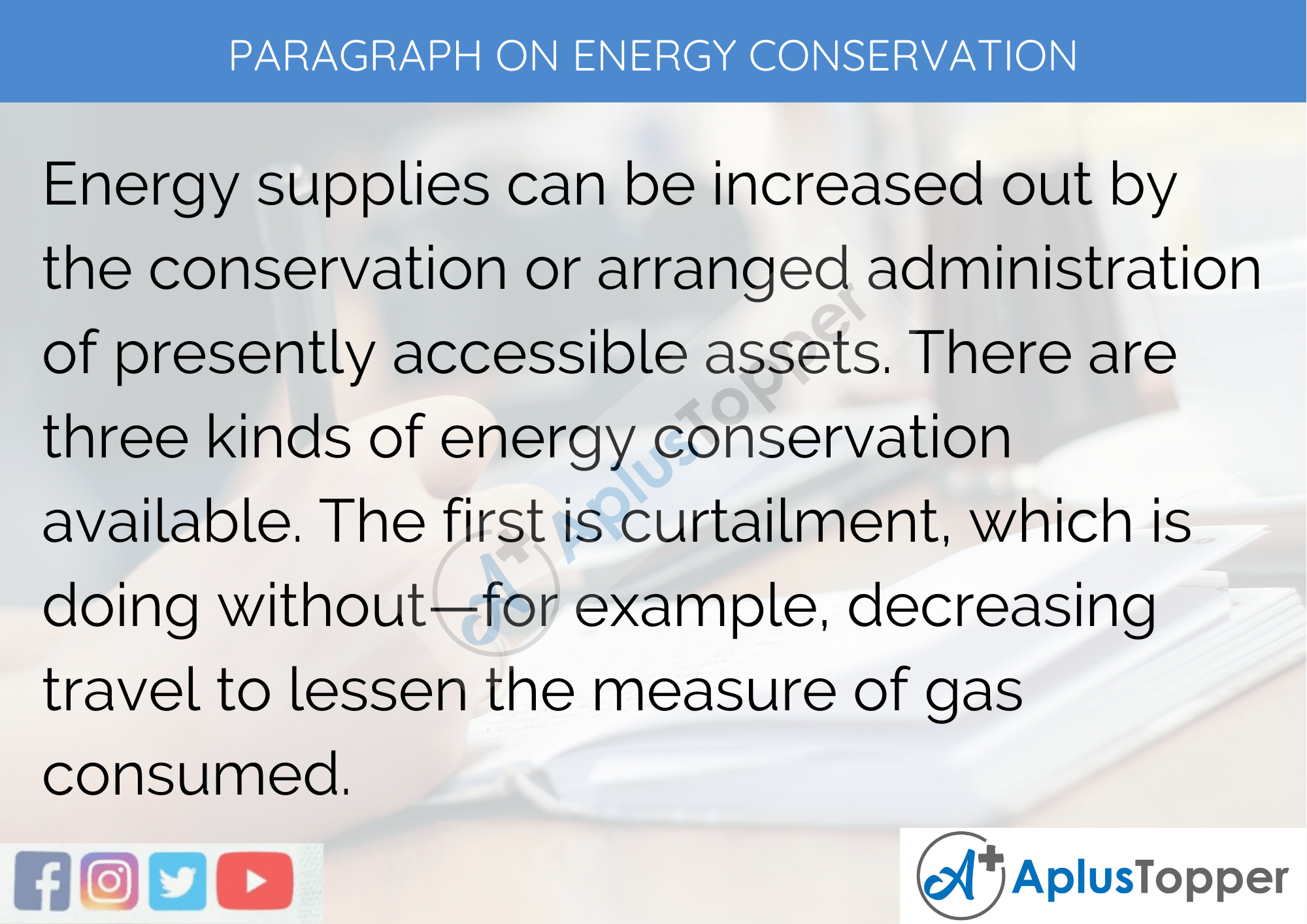 Paragraph On Energy Conservation - 100 Words for Classes 1, 2, 3 Kids