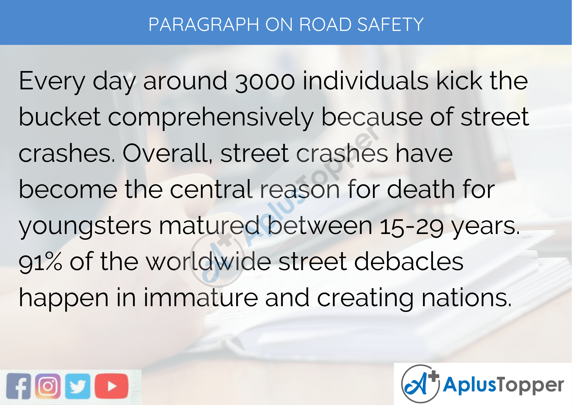 Paragraph On Road Safety - 250 to 300 Words for Classes 9, 10, 11, 12 And Competitive Exams Students