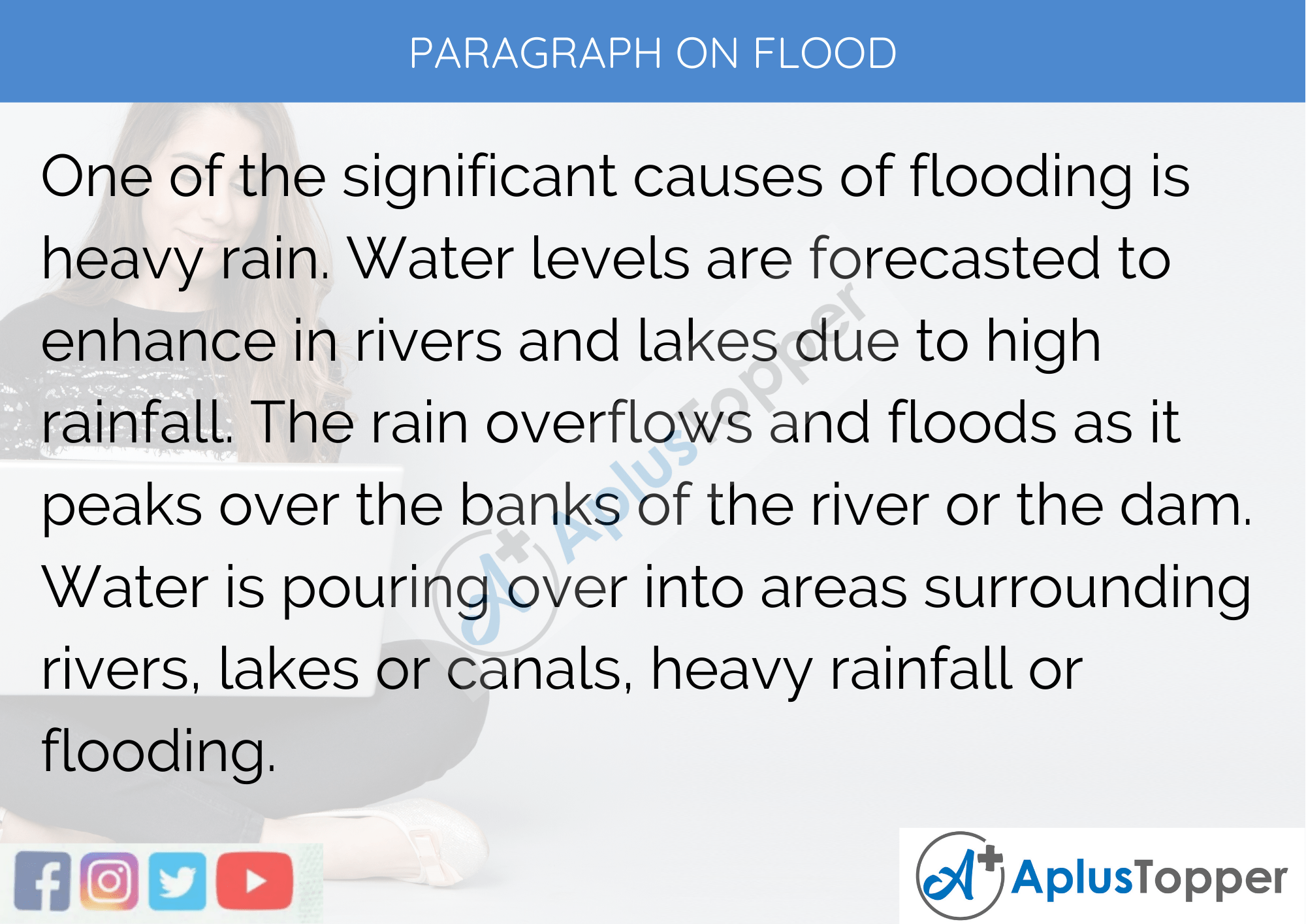 Paragraph on Flood - 250 to 300 Words for Classes 9, 10, 11, 12 and Competitive Exam Students