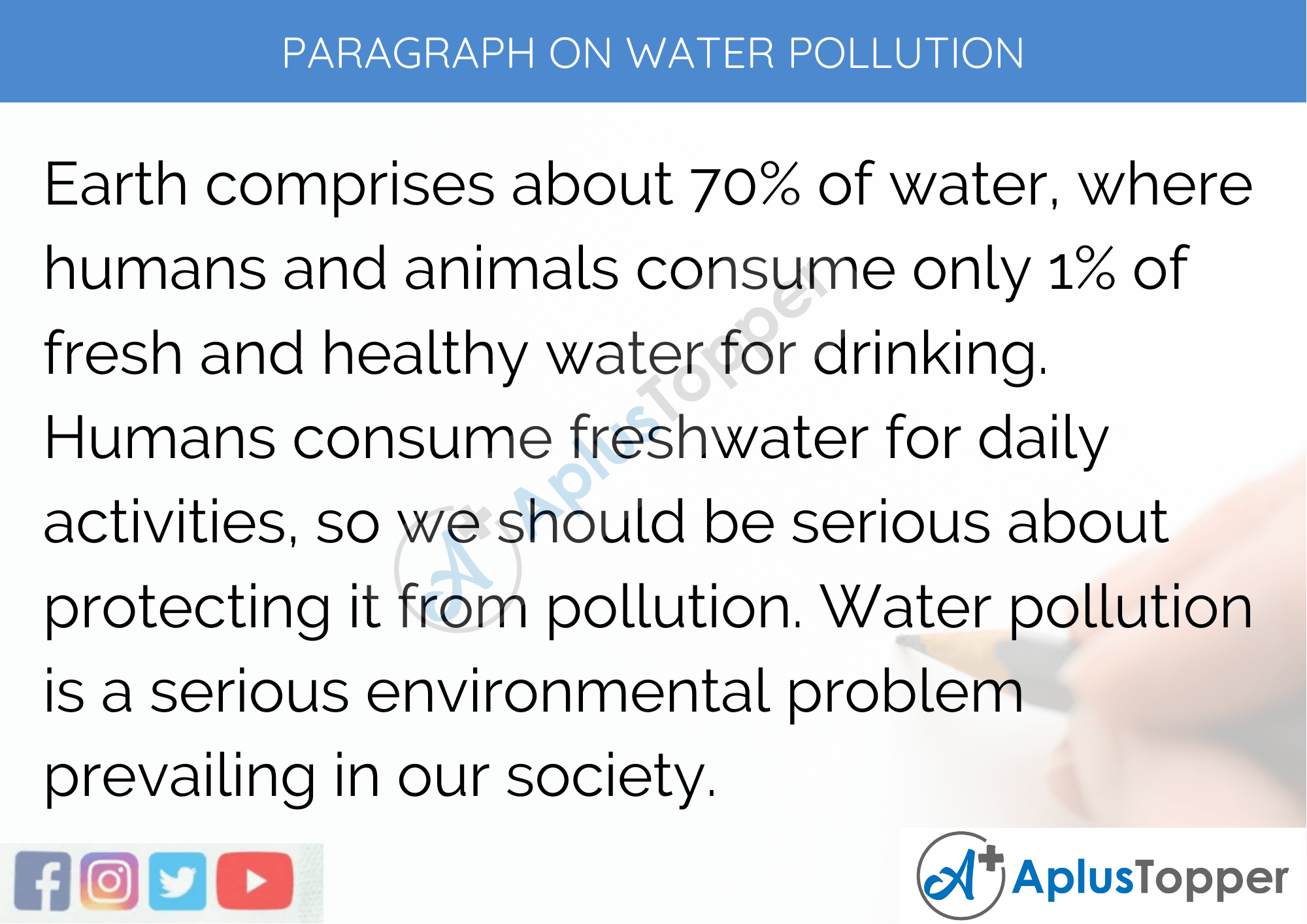 Paragraph on Water Pollution - 250 to 300 Words for Classes 9, 10, 11, and 12, And Competitive Exam Aspirants