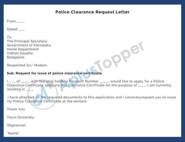 Police Verification Certificate  Application Process and How to