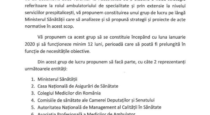 APMA propune constituirea grupului de lucru pentru ambulatoriu