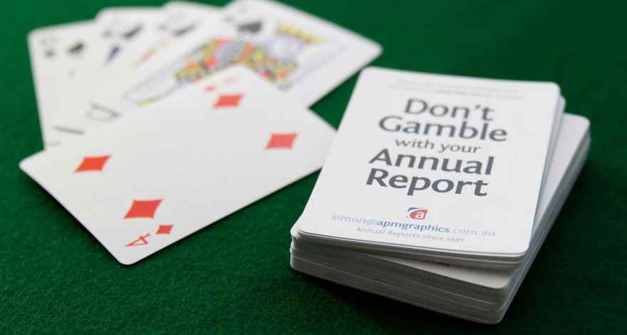 Don't gamble with your annual report
