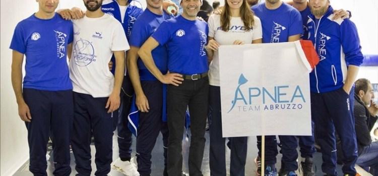 Agli assoluti invernali di Fabriano conferme per l'Apnea Team Abruzzo