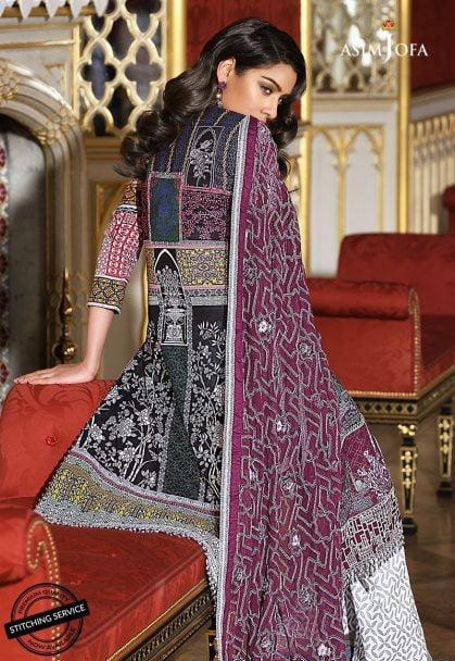 Asim Jofa Luxury Lawn Collection 2018 08B
