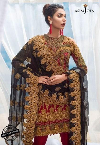 Asim Jofa Luxury Chiffon Eid Collection 2018 02A