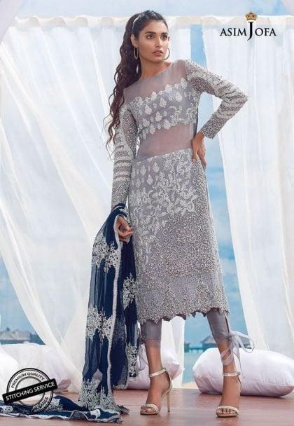 Asim Jofa Luxury Chiffon Eid Collection 2018 03A